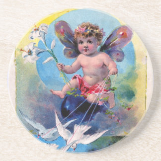BABY FAIRY WITH DOVES COASTER
