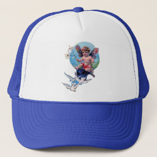 BABY FAIRY WITH DOVES TRUCKER HAT