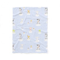 Baby Farm Animals Fleece Blanket