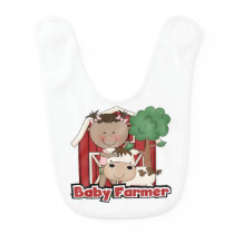 Baby Farmer With Cow Baby Bib