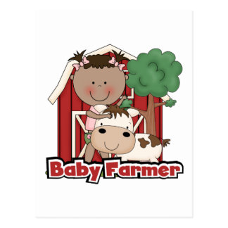 Baby Farmer With Cow Tshirts and Gifts Postcard