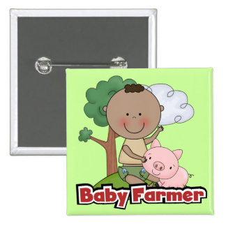 Baby Farmer With Pig Tshirts and Gifts Pin