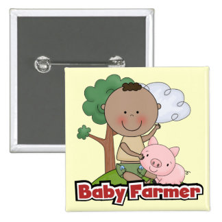 Baby Farmer With Pig Tshirts and Gifts Buttons