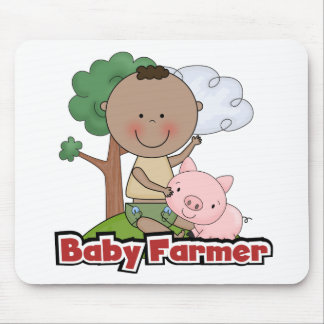 Baby Farmer With Pig Tshirts and Gifts Mouse Pad