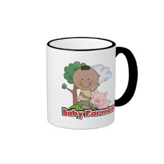 Baby Farmer With Pig Tshirts and Gifts Mugs