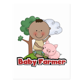 Baby Farmer With Pig Tshirts and Gifts Postcard