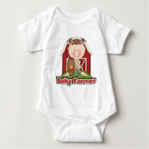 Baby Farmer With Rooster Tshirts and Gifts