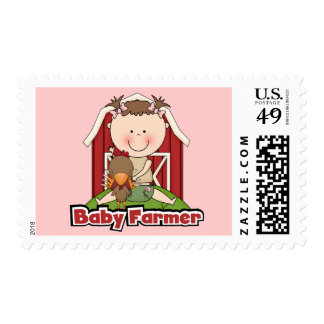 Baby Farmer With Rooster Tshirts and Gifts Postage