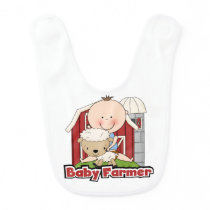 Baby Farmer With Sheep Bib