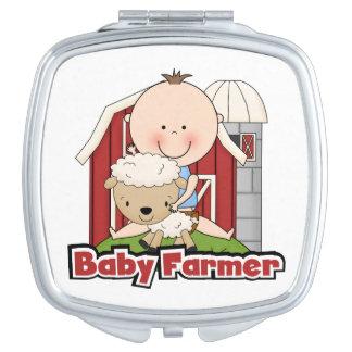 Baby Farmer With Sheep Vanity Mirror