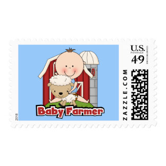 Baby Farmer With Sheep Tshirts and Gifts Stamps