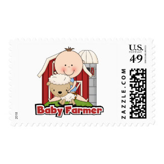 Baby Farmer With Sheep Tshirts and Gifts Postage