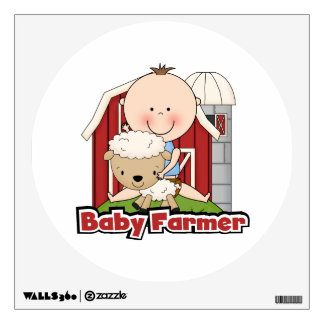 Baby Farmer With Sheep Room Decal