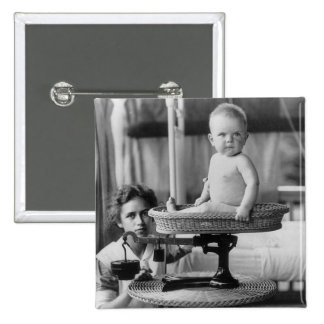 Baby Fat, 1912 2 Inch Square Button