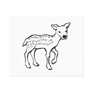 Baby Fawn Deer Stretched Canvas Prints