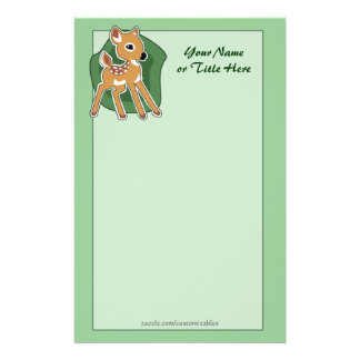 Baby Fawn Stationery