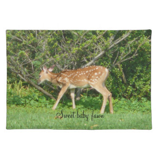 Baby Fawn White Tailed Deer Placemat Placemats