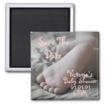 Baby Feet 2 Inch Square Magnet