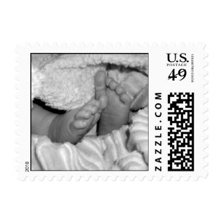 Baby Feet (B&W stamp) Postage Stamps