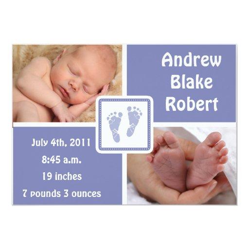 Baby Feet Baby Birth - Blue Card