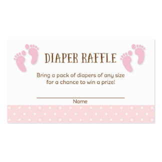 Baby Feet Baby Shower Diaper Raffle Tickets Double-Sided Standard Business Cards (Pack Of 100)