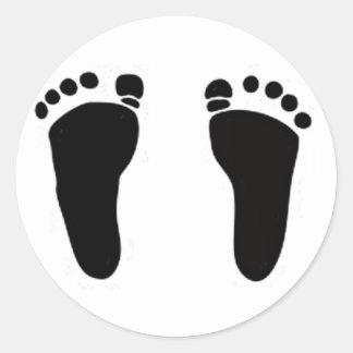 Baby feet Cards Invitations Sticker