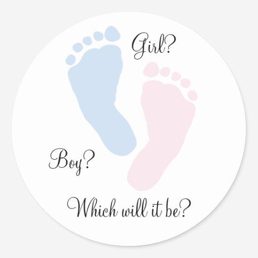 custom gender reveal sticker templates babyfavors4u