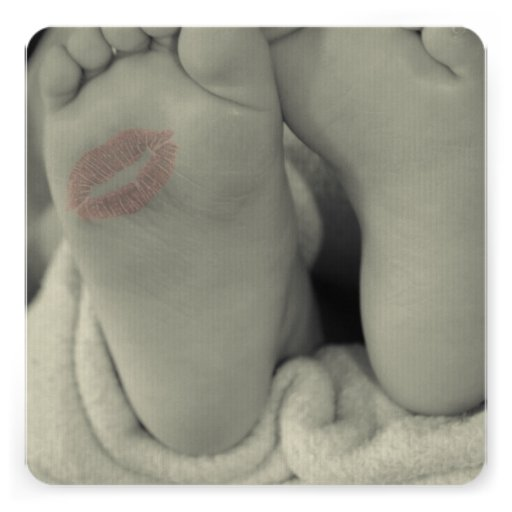 Baby Feet Footprint Shower Invitation Announcement