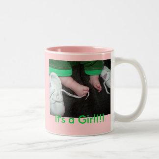 Baby Feet Girl, Two-Tone Coffee Mug