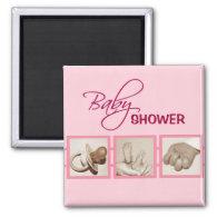 Baby feet, hand, pacifier - Magnet