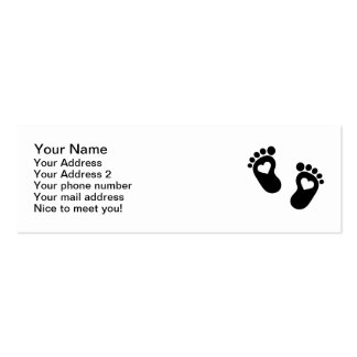 Baby feet hearts Double-Sided mini business cards (Pack of 20)