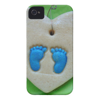 baby feet in blue iPhone 4 case