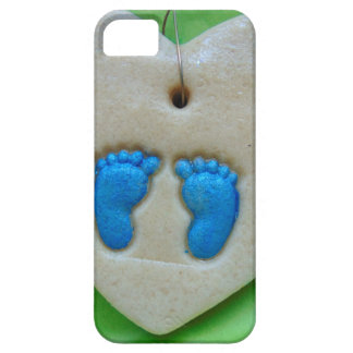 baby feet in blue iPhone SE/5/5s case