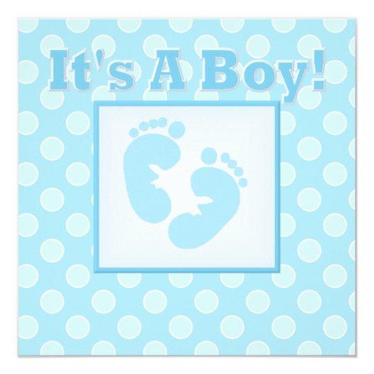 Baby Feet Its A Boy Baby Shower Invitation Zazzle