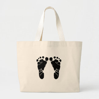 Baby Feet Large Tote Bag