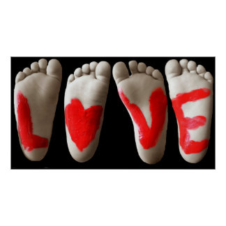 Baby feet love posters