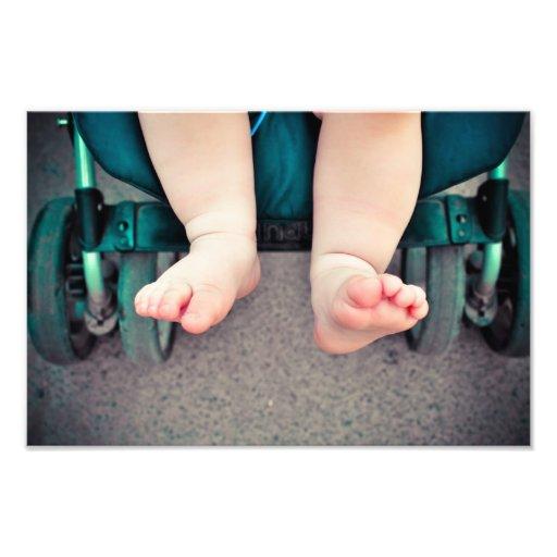 Baby feet photo print
