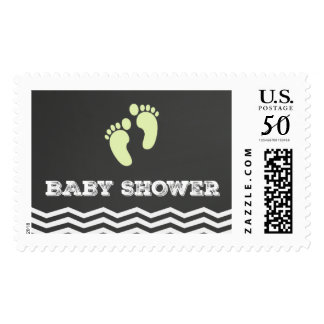 Baby Feet Postage Stamps Chalkboard