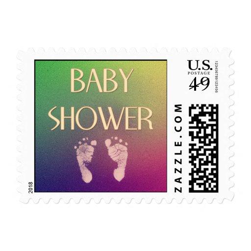 Baby feet shower stamp