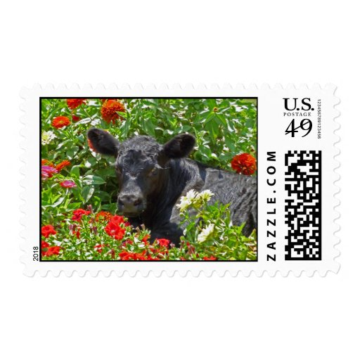 Baby Ferdinand in the Flowers Timbres Postales