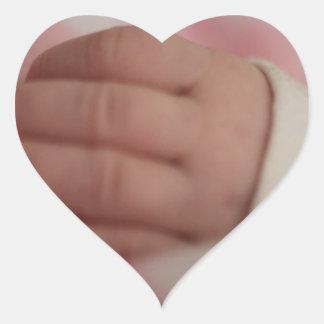Baby fingers heart sticker