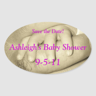 Baby Fingers Save the Date Shower Sticker