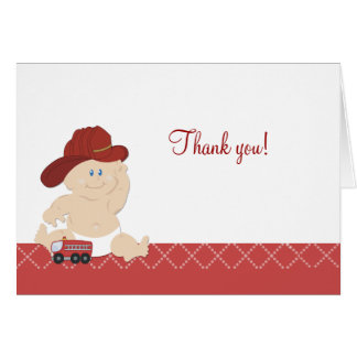 BABY FIRE FIGHTER Folded Thank you notes Card