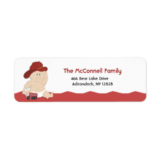 BABY FIRE FIGHTER PRINTABLE ADDRESS LABELS