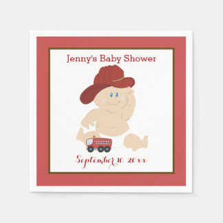 Baby Firefighter Customized Napkins