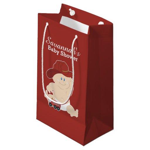 Baby Firefighter Fireman Baby Shower Gift Bag