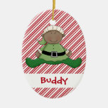 Baby First Christmas Elf Suit Christmas Ornament