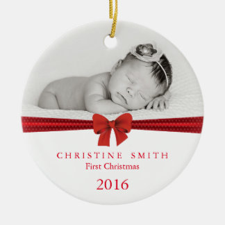 Baby First Christmas ornament customizable