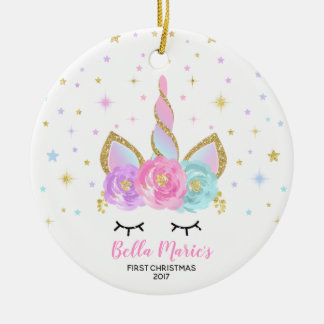 Baby First Christmas Ornament Unicorn Ornament