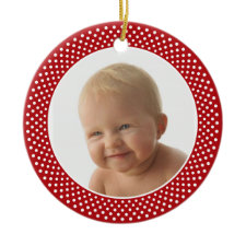 Baby' First Christmas - PHOTO FRAME Ornament ornament